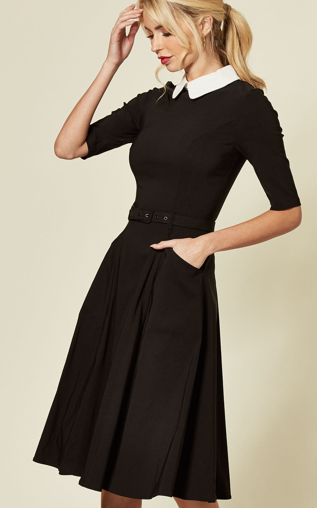 Heather Blue Stripe Embellished Maxi Dress | ANGELEYE | SilkFred
